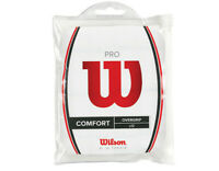 Wilson Pro Overgrip 12 Pack White Comfort Tennis Badminton Tape Racket WRZ4016WH