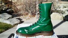80s Vintage Dr Martens Hawkins Green 10eye boots size US 7 shoes doc 1490 gt uk6