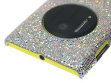 Cover Case Nokia Lumia 1020 Silver Shiny Sparkling Glitter + Screen Protector
