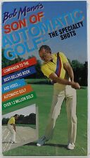 bob mann's son of automatic golf - the specialty shots vhs factory sealed NEW