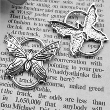 6pcs Tibetan Silver Butterfly Connector,Jewelry Findings,Charms,Pendants