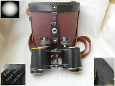 Military French field binoculars Ets Krauss Paris 8x30 with reticle 1930s