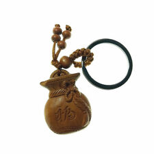 Chinese Feng Shui Lucky Wealth Fortune Hand Carved Amulet Pendant Key Chain