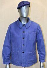 Veste travail vintage 50/60's bleu SOLIDA french work chore jacket coton T44