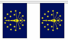 INDIANA U.S. STATE BUNTING 9 metres 30 flags Polyester flag