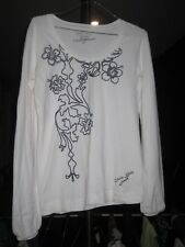 Calvin Klein womens white top with print - Size L, New without tags!!!