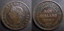 NOUVELLE ZELANDE - JETON - ONE PENNY TOKEN 1871 REINE VICTORIA