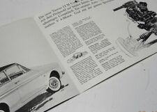 ✇ FORD TAUNUS 12m Coupé P4 Original Falt Prospekt von 1962