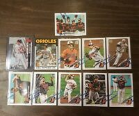 2021 Topps Baltimore Orioles Lot- Cal Ripken Jr. Die Cut, Ryan Mountcastle RC