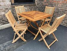 """SALE Solid Teak Wood Outdoor Patio Garden 36"""" Square Folding Dining Table ONLY"""