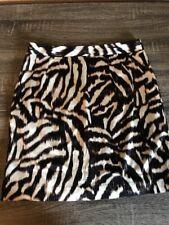 Ann Taylor Animal Print Pencil Skirt Women's Size 8