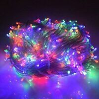 Christmas Tree Decorations Remote Control LED String Lights, 140 RGB Lights