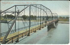 BB-075 Wagon Bridge, Yellowstone River, Miles City, Montana, 1907-1915 Postcard