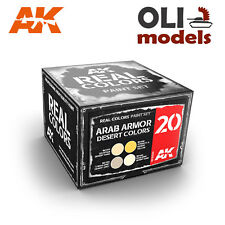 Real Colors: ARAB ARMOR DESERT COLORS Acrylic Lacquer Set  AK Interactive RCS020