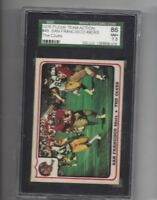 1976 Fleer #49 San Francisco 49ers SGC 86 near mint +