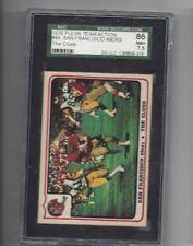 1976 Fleer #49 San Francisco 49ers SGC 86 near mint +
