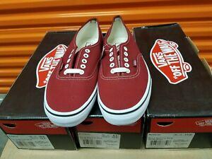 Vans Authentic Biking Red Canvas Skate Shoes