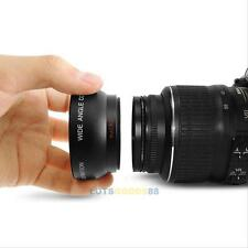 52mm Digital High Definition 0.45X Super Wide Angle Lens Macro for Canon Nikon