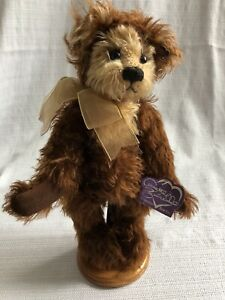 "Annette Funicello English Toffee 13"" Teddy Bear with Tags and Ear Pin"