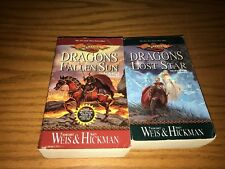 Margaret Weis & Tracy Hickman 1st 2 paperback books Dragonlance: War of Souls