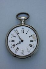 Silberne Taschenuhr mit Schlüsselaufzug, 19.Jahrhundert
