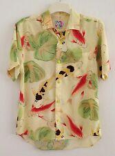 "Jams World ""KOI"" Hawaiian Aloha Shirt Mens S Colorful Beautiful Koi Fish"