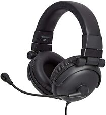 AmazonBasics Over-Ear Hi-Fi Foldable and Adjustable USB Headset w/ Mic and Mute
