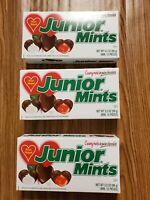 (3)Junior Mints Valentine Heart Shaped Candy 3.5-Ounce Gift Boxes