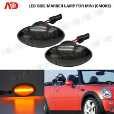 2x Smoked LED Side Marker Light Lamp For Mini Cooper R56 R55 R57 R58 R59 Amber