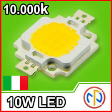 CHIP POWER LED 10W 12V Bianco Freddo 10000K Alta Luminosità White