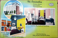 1951 Linen Postcard: Commodore Apartment Hotel, Interior View-Omaha, Nebraska NE