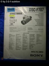 Sony Service Manual DSC F707 Level 2 Digital Still Camera (#6603)