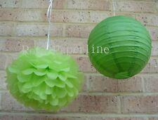 10x green paper pom poms lanterns birthday wedding party baby shower decoration