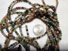 "TWO (2) 16"" Strands Natural FANCY JASPER Beads 4mm - So Pretty!"