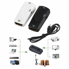 Black 1080P HDMI Male to VGA Female Adapter Video Converter + Audio Output HOT