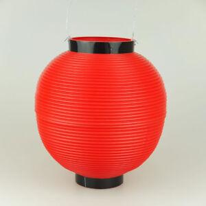 JAPANESE Polyester Chochin Matsuri Festival Lantern JAPAN Red 24cm