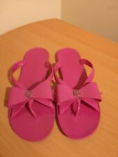 Ladies Ted Baker Sandals fuchsia /Raspberry fitflop sandals with bow