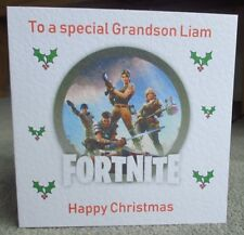 Fortnite Personalised Christmas Card Son Grandson Nephew Godson Brother