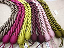 2 LARGE CHUNKY Rope Tie Backs - Per pair - HB552 Fabric Cable Cord TieBacks 82cm