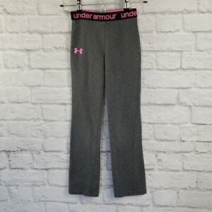 Under Armour Girl's Size 6X Grey Pink Stretch Yoga Pants