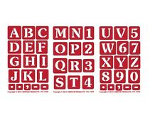 3 Stencils Re-Usable Self Stick Over n Over Glass Etching ONO alphabet 1 inch
