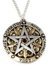 Sir Gawain's Glyph Pentagram Pendant / Pagan Occult Pentacle Necklace