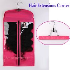 Hair Extensions Carrier Storage Suit Case Bag With Hanger for Virgin Hair US AM