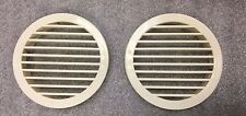 """PAIR 4 1/2"""" WHITE PRESS FIT ROUND AIR FLOW PLASTIC VENT COVER Boat Marine RV"""