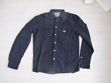 DIESEL chemise navy blue men shirt 39 Medium slim fit like new 100% original 1c8915eeffb9