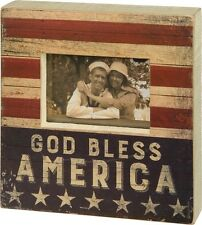 Primitives By Kathy Patriotic God Bless America Frame
