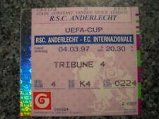 Ticket: Anderlecht - Inter Milan UEFA (4-3-97)