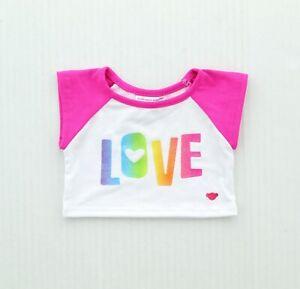 Build-A-Bear Workshop Rainbow Love Shirt Teddy Bear Accessories 025328