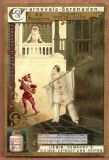 Polichinell  Italian Serenade Festival c1898 Trade Ad  Card