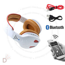 Multi Function LED Bluetooth Wireless Hands-free Orange Headset with Cables UKDC